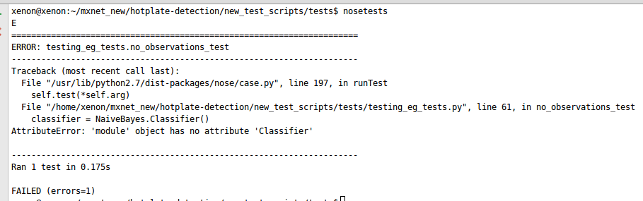 Developing Classifier for TDD in Machine Learning