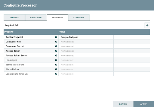 Fetching Tweets With Apache Nifi Processor