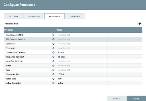 Configuring Processor For Data Integration Using Apache Nifi to Elastic Search