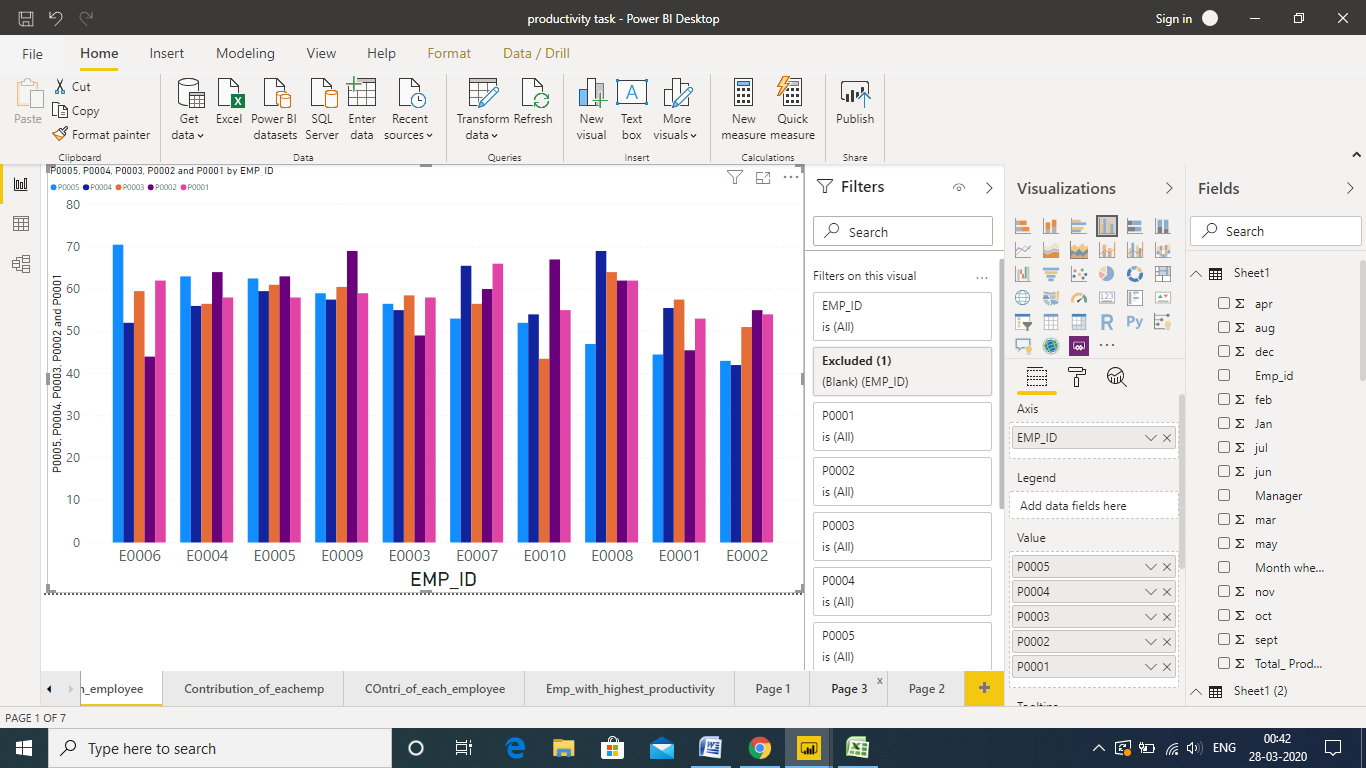 designing reports in power bi