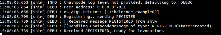 Starting and registering the ChainCode