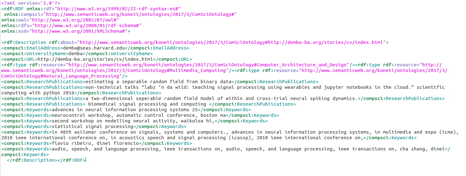 Storing Unstructured Data in RDF Form